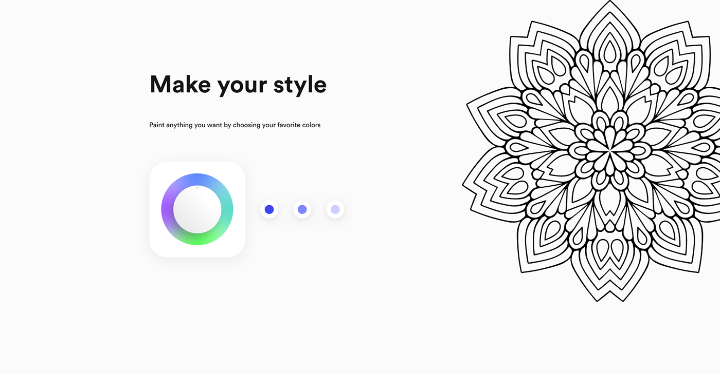app coloring design interaction mobile painting   tattoo UI ux AR
