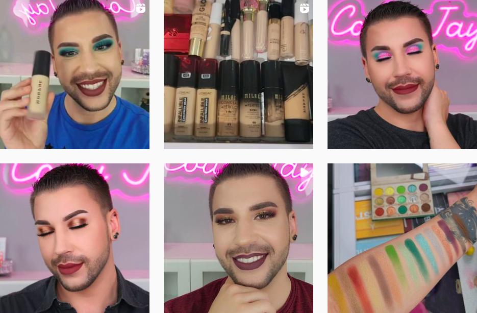 Cody Jay | Makeup Tutorial Instagram Posts | Professional Makeup Artist
