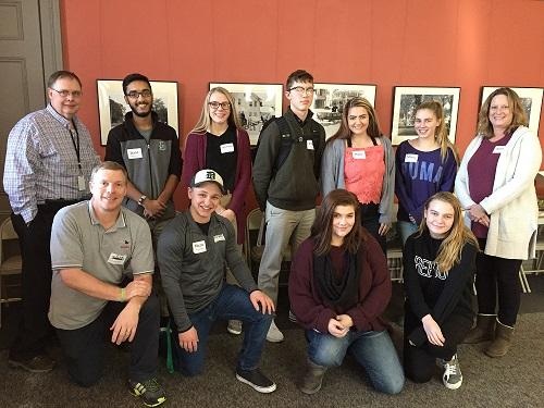 Youth Leadership Council members and their adult supporters; December 2018
