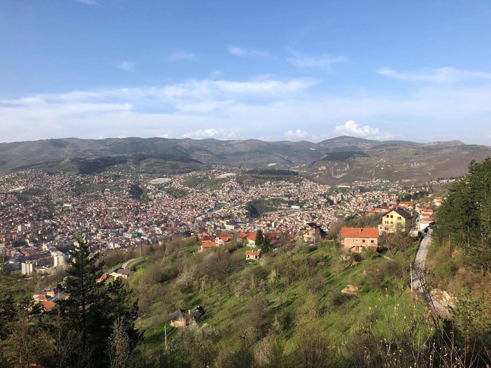 Výhľad na Sarajevo