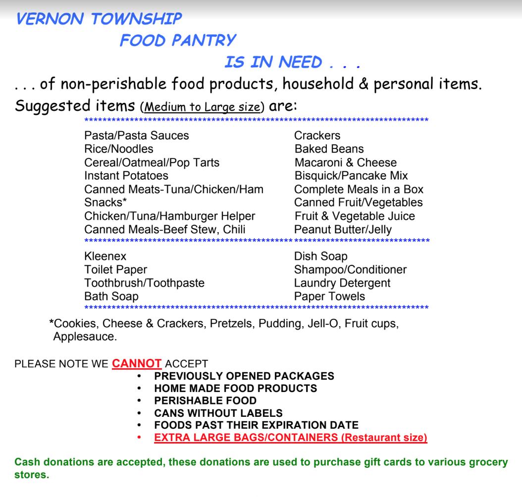 Help the Food Pantry