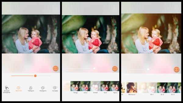 Tutorial de edição de uma foto de uma mãe segurando sua filha usando as ferramentas do AirBrush