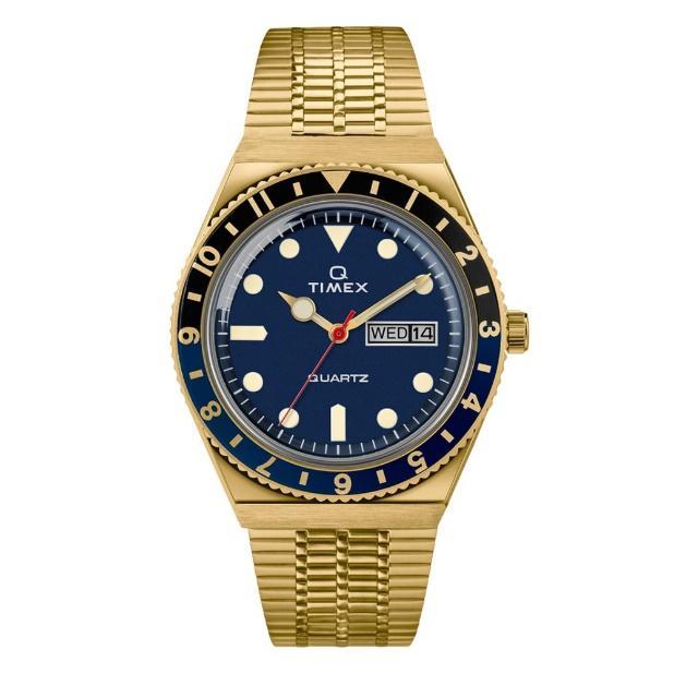 TIMEX TM-TW2U61400 Q Timex Reissue นาฬิกาข้อมือผู้ชาย สีทอง - Timedeco