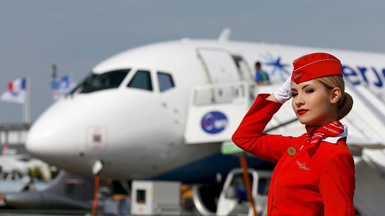 Russian airlines fligth attendant
