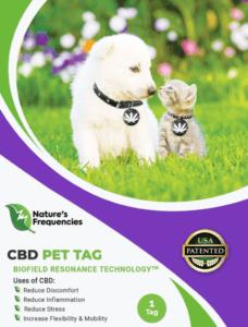 Natures frequencies CBD Pet tag