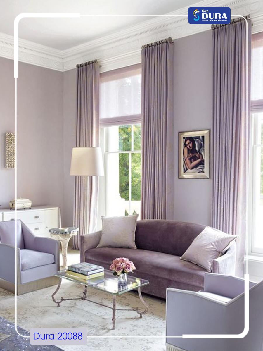 Sơn nhà màu tím nhạt
