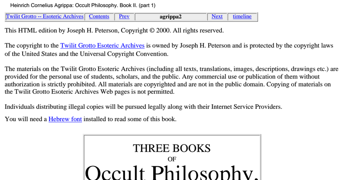 Occult Texts