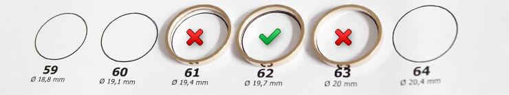 Comment mesurer la taille d'une bague pour homme