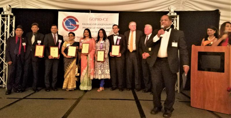 GOPIIO-CT Awardees with Dignitaries and GOPIO officials