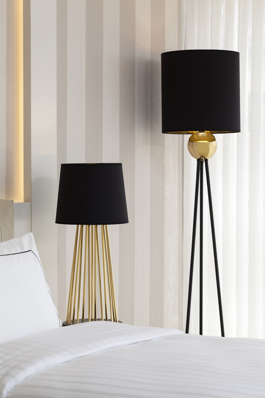 lamps with black lampshades