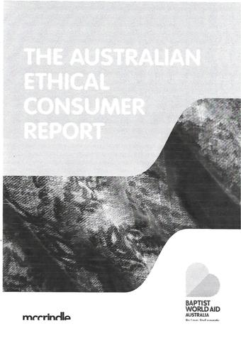 ethical consumer report cover