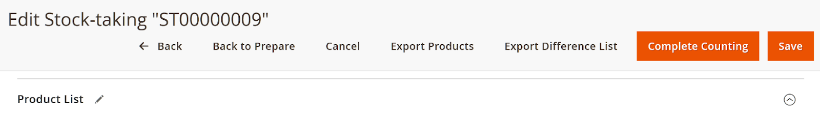 You can export difference list to double-check stock count.