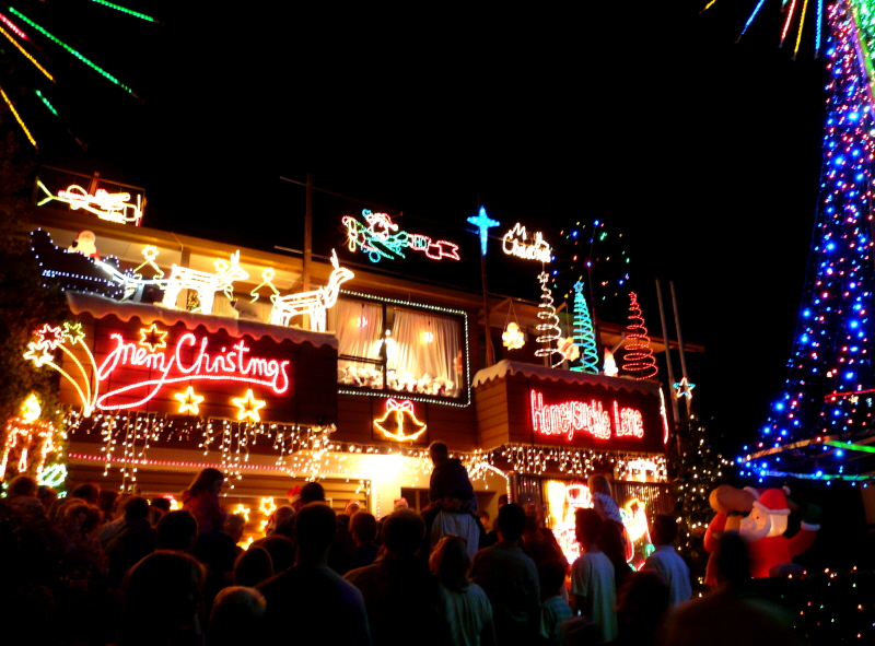 There were all these houses that were covered in bright colourful lights.  It was just beautiful driving through the street. - Stevenson: Holiday Highlights Week 2