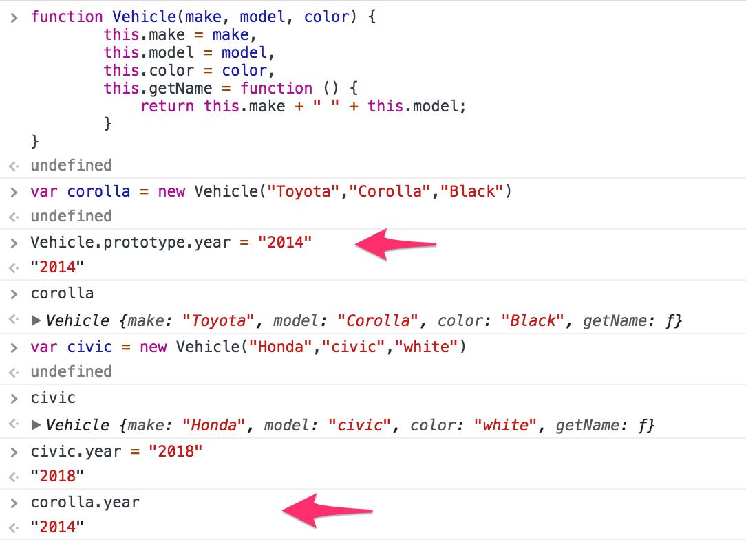 فئات JavaScript classes article-  instances Constructor