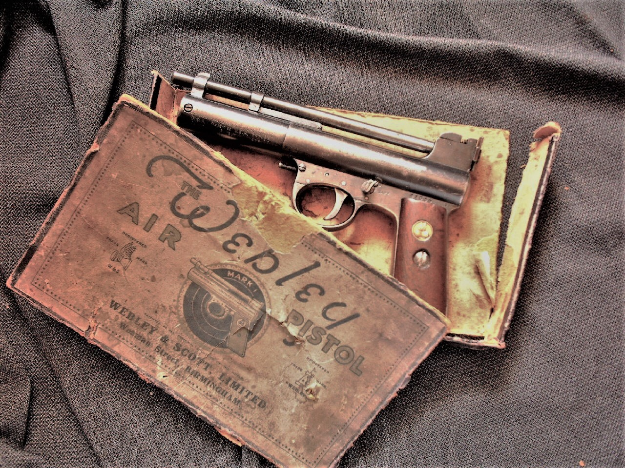 typical webley pistol