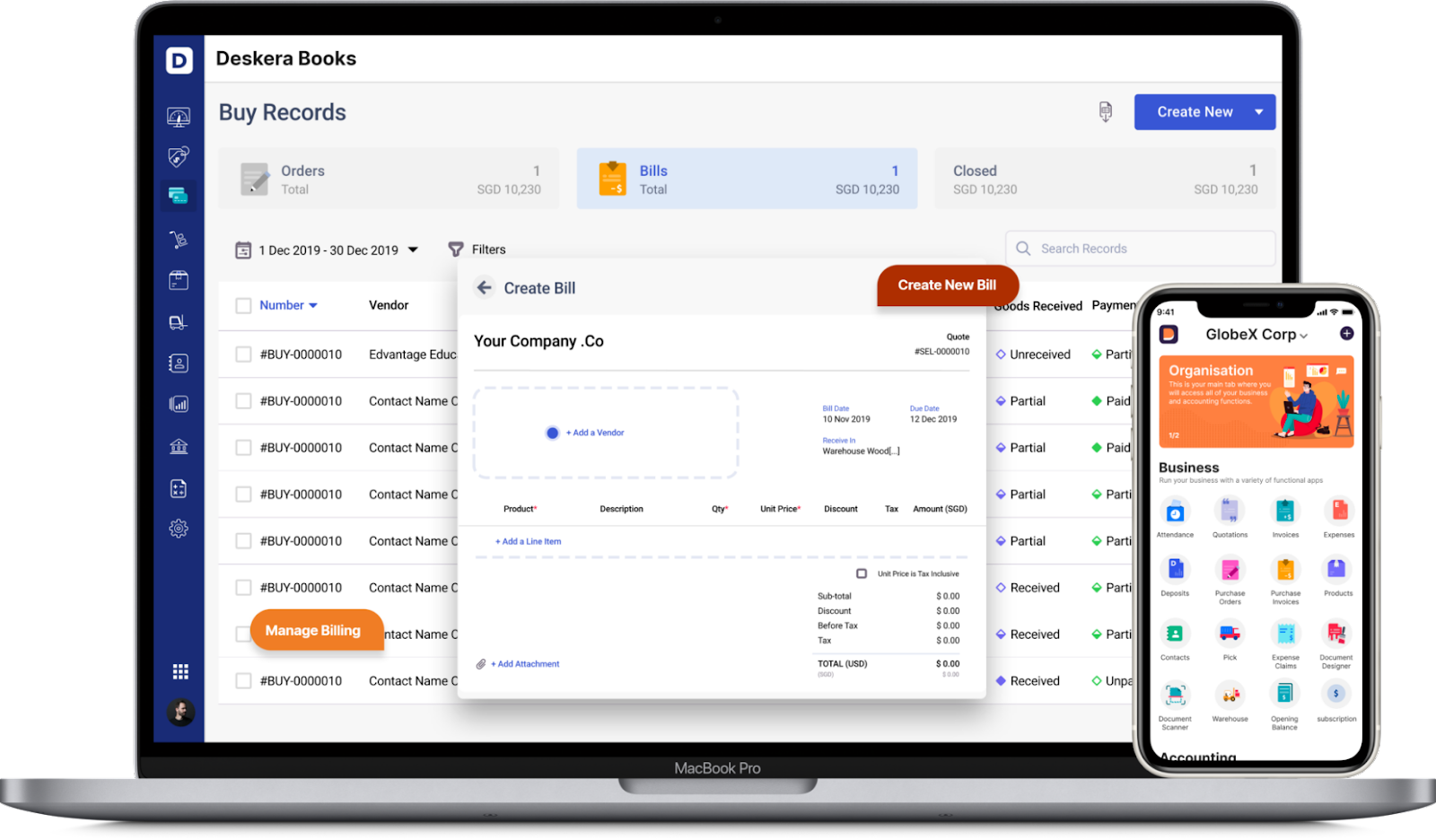 Create Purchase Orders with Deskera