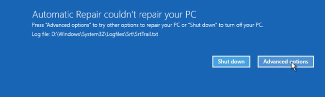windows 10 automatic repair could not repair your PC