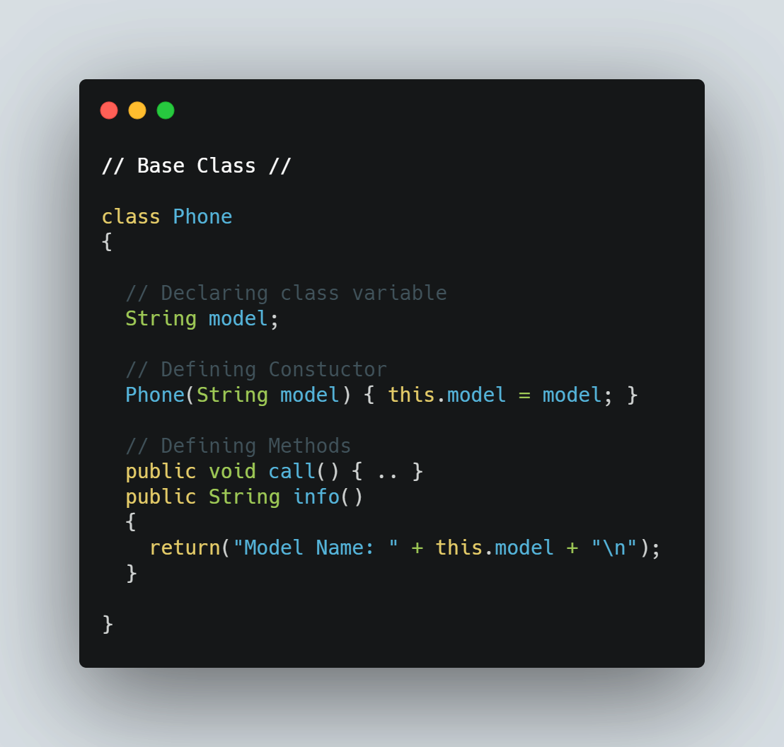 base class example code