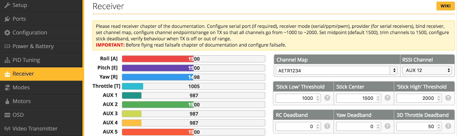 "Armattan Tadpole 2.5"" 設定<3>BetaFlight 4.1.5 後編"