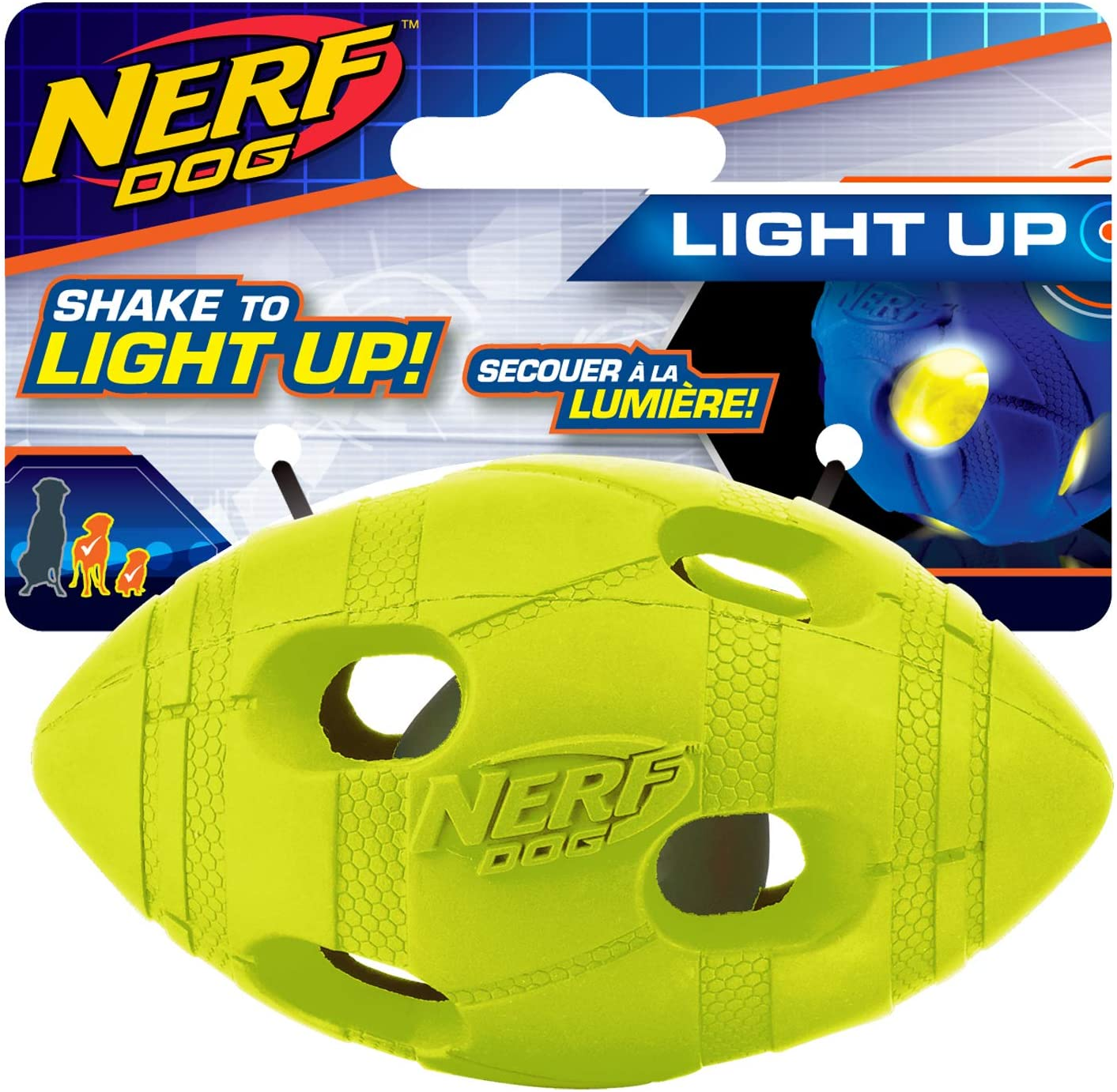 Light up rubber football toy