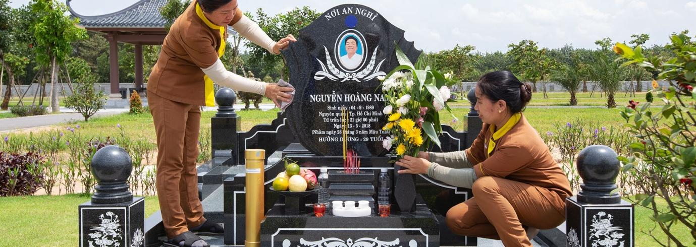 Dịch vụ chăm sóc mộ phần tốt tại nghĩa trang Vĩnh Hằng