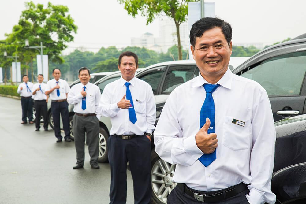 Đội ngũ lái xe chuyên nghiệp, tận tâm của Huy Đạt