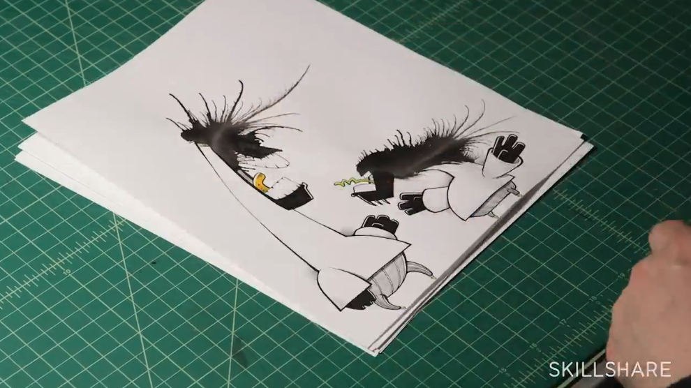 ink splatter art