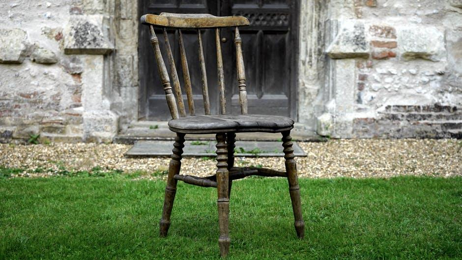 antique, chair, country