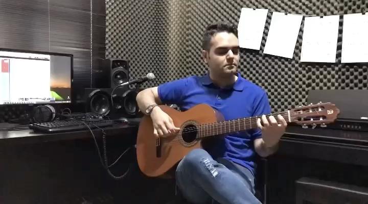 Turkish March از Mozart بخش اول فرزین نیازخانی گیتار