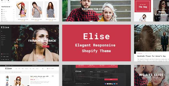 Shopify responsive themes Elise