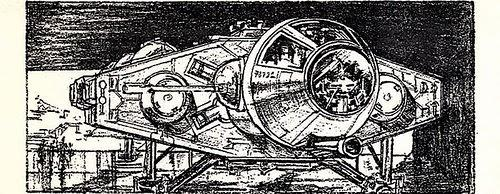 concept design of the millennium falcon
