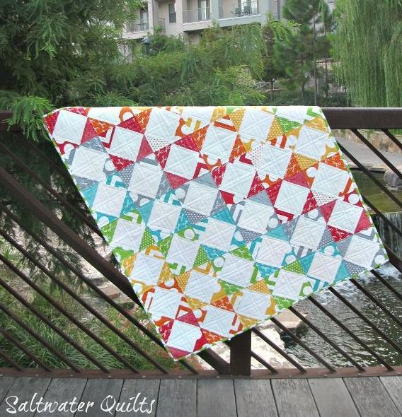 Steps and Stairs Rainbow Quilt - www.craftsy.com Pattern