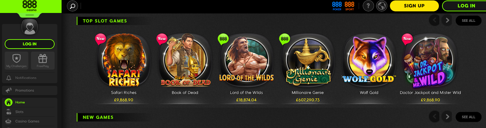 888 Casino is a top-rated slot bonus site