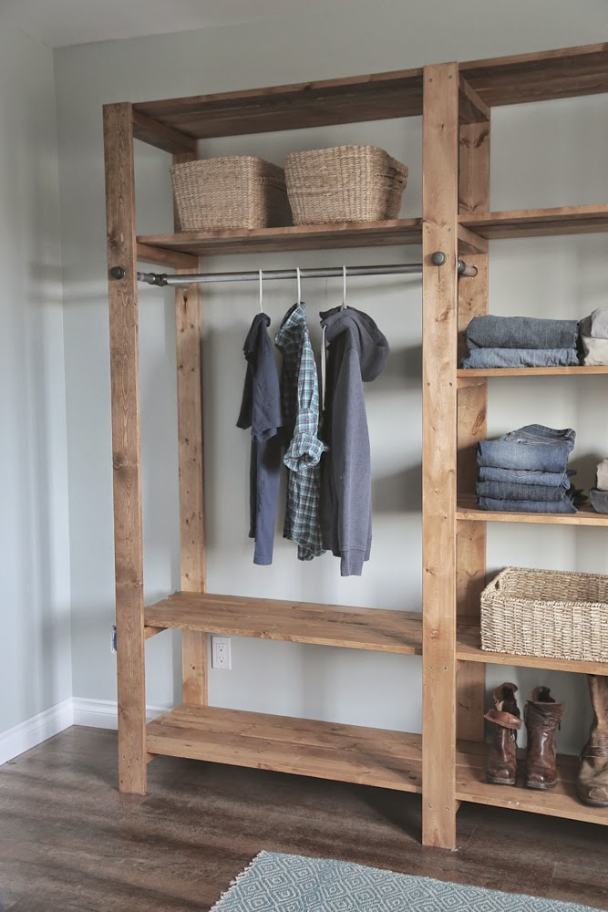 Image Of Wooden Portable Closet Cover