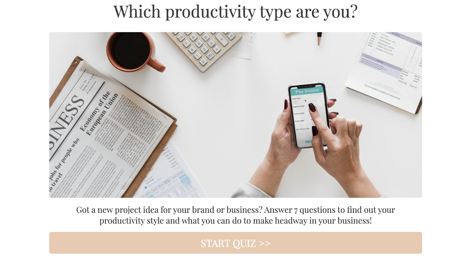 which productivity type are you quiz cover