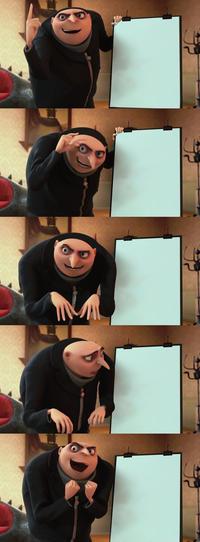 Gru Meme Blank