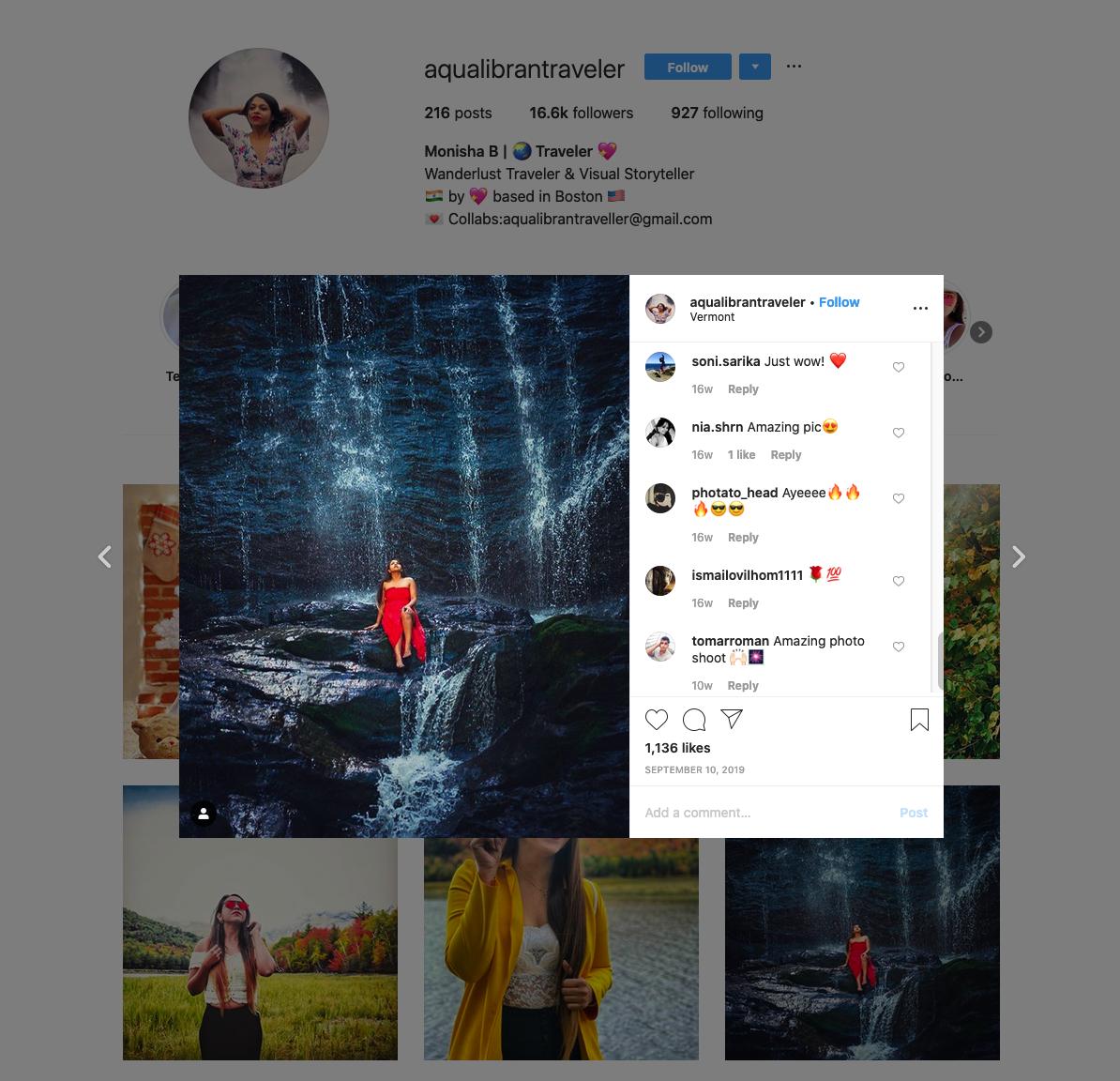 Monisha B | Wanderlust + Visual Storyteller