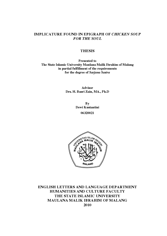 Phd thesis partial fulfillment