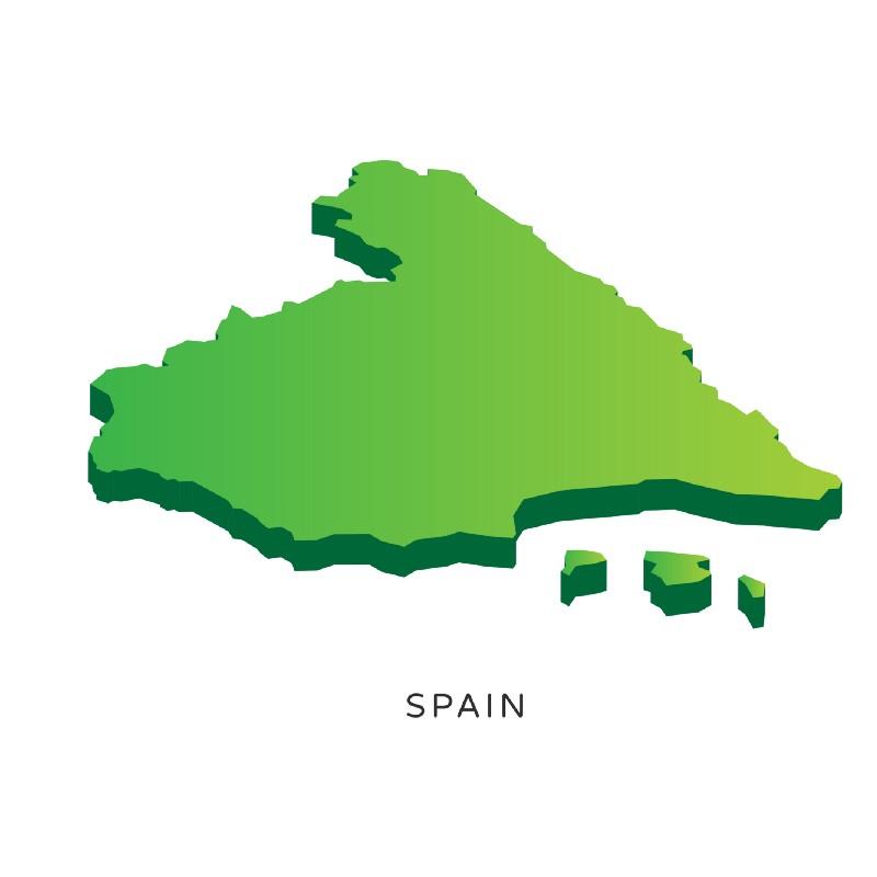 Comparação do tamanho da Espanha com a população de deficientes no Brasil.