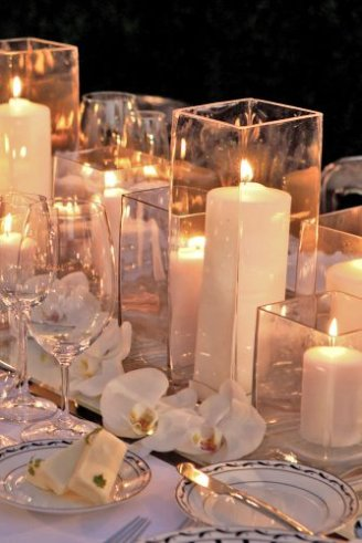 light decoration with gorgeous candles