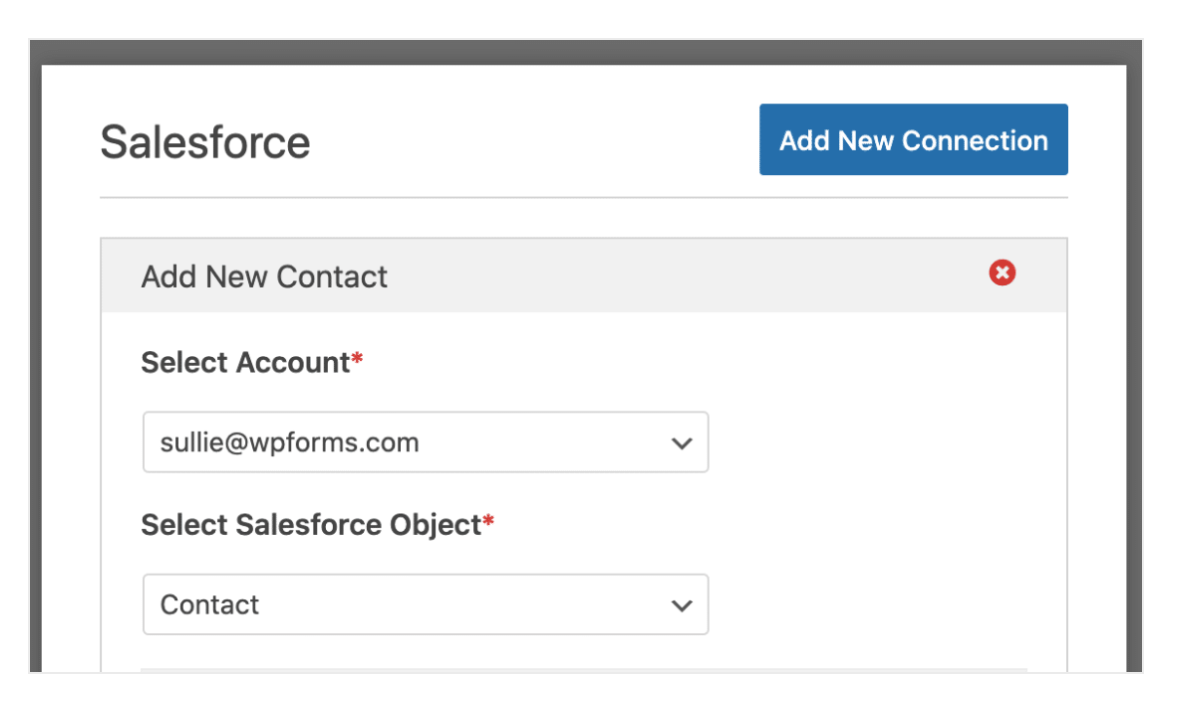 Salesforce Object Connect WPForms