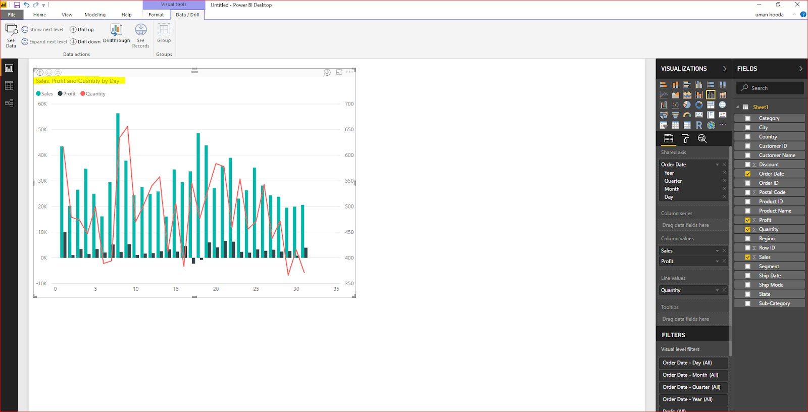 Dual Axis Chart in Microsoft Power BI - Step By Step 37