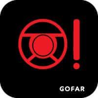 tay lái xe cảnh báo ánh sáng an toàn biểu tượng