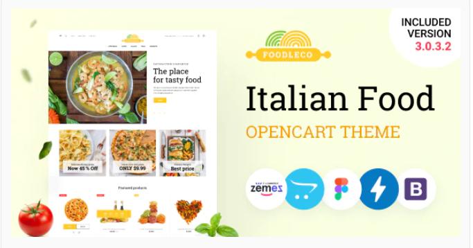 brilliant Opencart food store theme