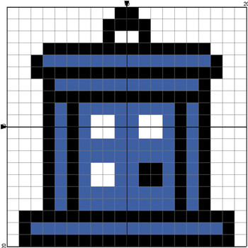 Tardis chart for beanie or crochet square