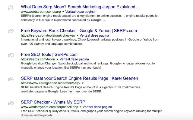 Google SERP counter