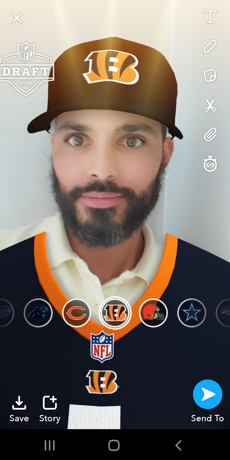 Snapchat lenses for Snapchat advertising.