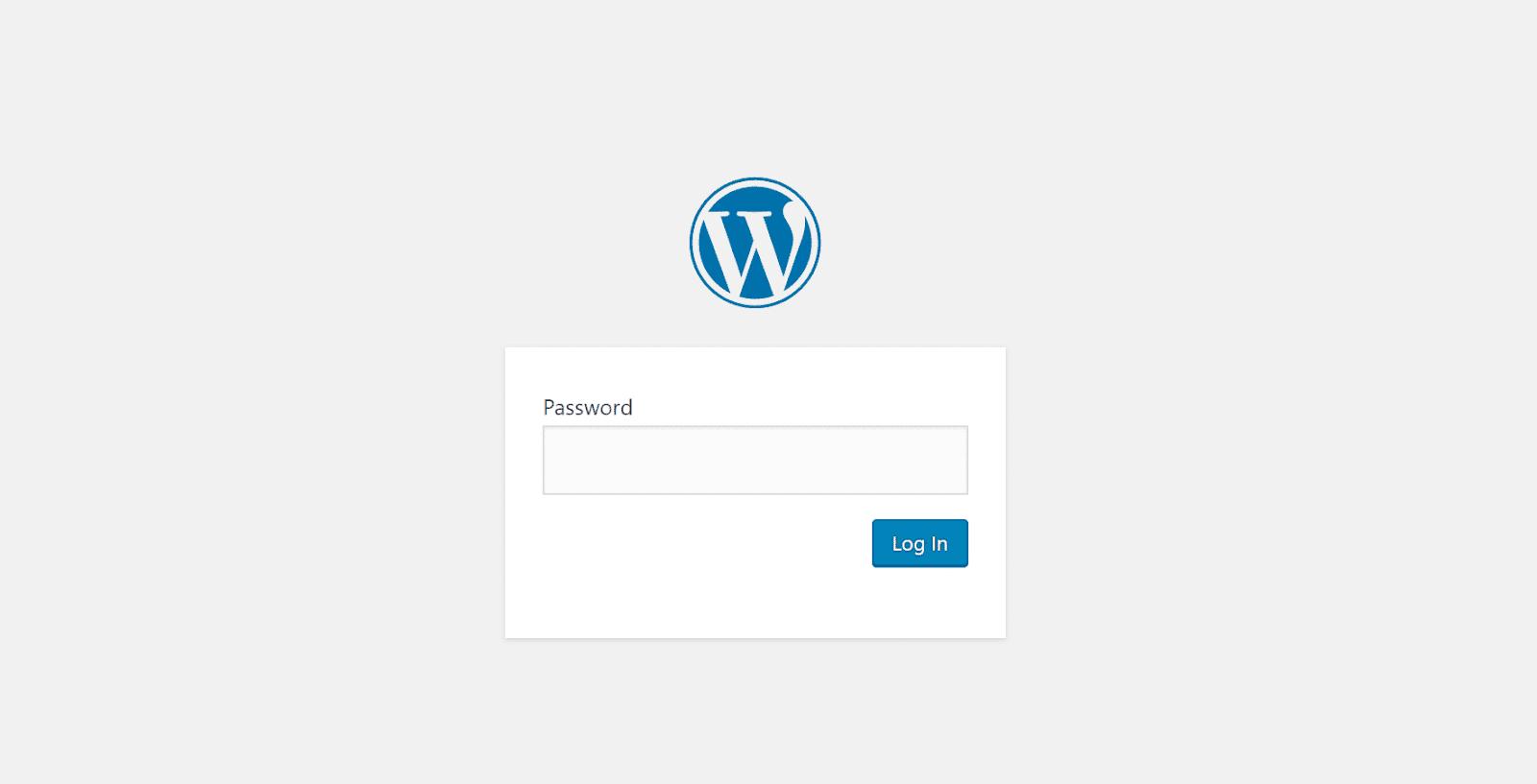 Mẫu mật khẩu sitewide
