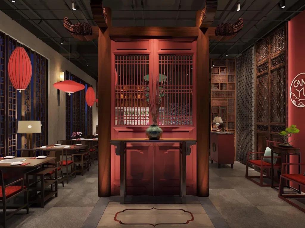Thiết kế nhà hàng Trung Hoa truyền thống