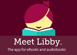 """Libby Logo with """"Meet Libby"""" in white"""